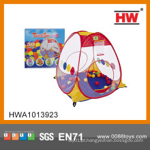Top venda indoor kids tenda camping conjunto com bola