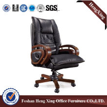 Wooden High Back Leather Executive Boss Office Chair (HX-CR024)