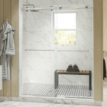 Seawin  Hotel bathroom practical stainless steel Sliding Glass Shower Door