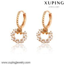 92187 Xuping new one gram gold earrings designs for girls