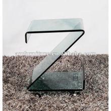 Mesa de centro de vidro de 12 polegadas