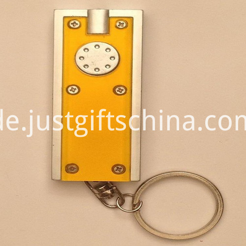 Promotional ABS LED Square Keyring Torches2