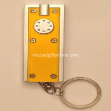 Promosi plastik LED Square obor Keyrings