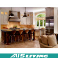 Charitable Product Customized Teak Solid Wood Kitchen Cabinet (AIS-K445)