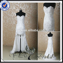RSW137 Lace Sexy High-Low Wedding Dress Front Short Back Long