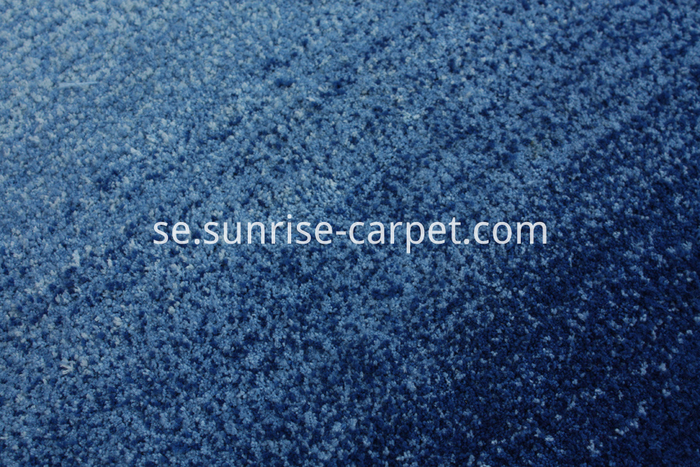 microfiber shaggy with design short pile blue