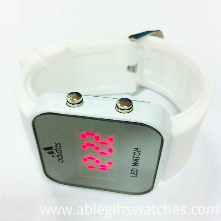 square silicone LED watches