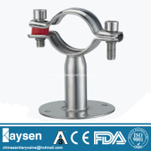 Stainless Pipe Hanger Tube Holder With Circular Base