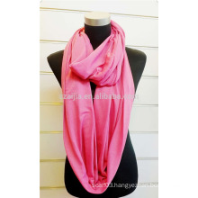 ladies fashion solid knitted jersey infinity scarf loop scarf
