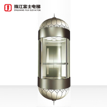Top Quality Fuji Brand Hydraulic drive circular round special glass elevator