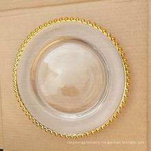 STOCK Wedding Decoration Beaded Charge Plates-13''