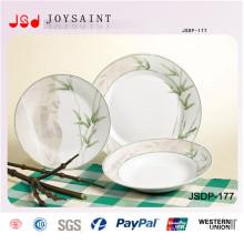 A porcelana a mais atrasada da forma Dinnerset a maioria de utensílios de mesa cerâmicos populares ajustou-se para o jogo de comensal do projeto de Baboom da promoção