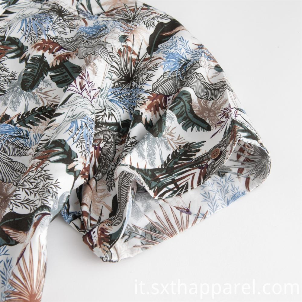 Print Flowers Short Sleeve Shirt