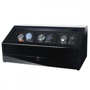 Triple Watch Winder Nero Finitura lucida