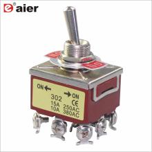 Daier KN-302/303 250VAC Interruptor de palanca de 3 polos y 9 pines
