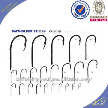 FSH028 82154 Ganchos de pesca de acero de alto carbono anzuelos de pesca con baithholder