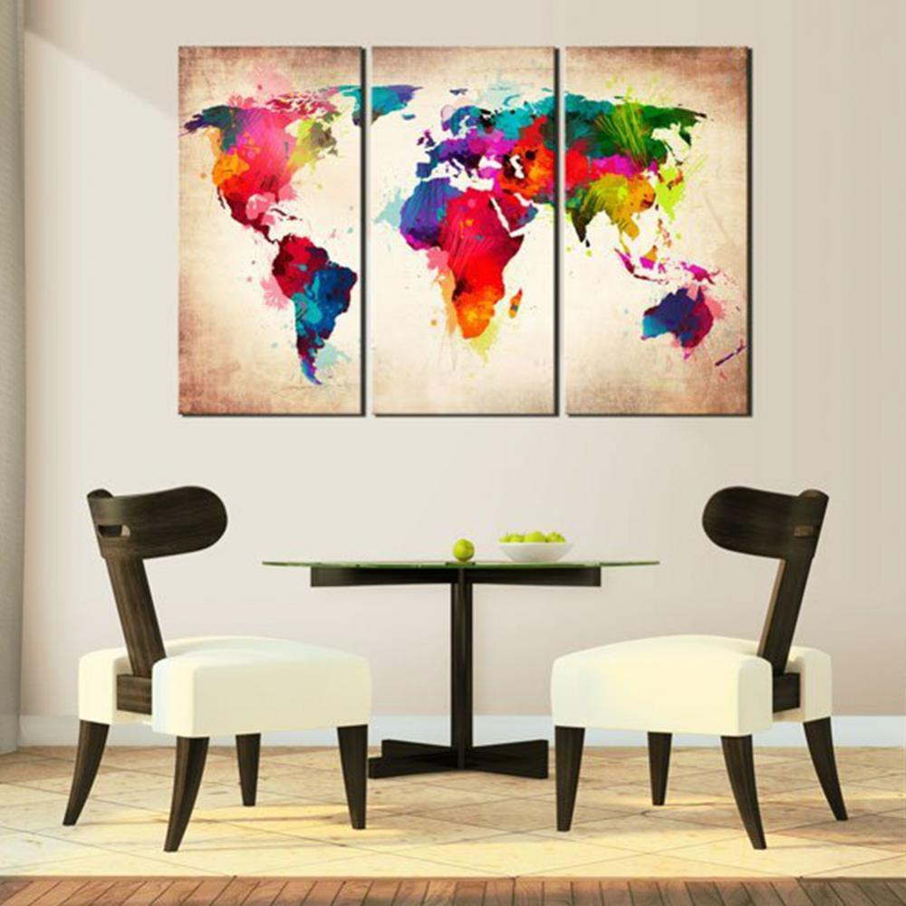 World Map Canvas Wall Painting
