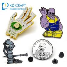 Wholesale personalized custom metal stamp navy military lapel pin mat logo enamel 3d character badges for souvenir