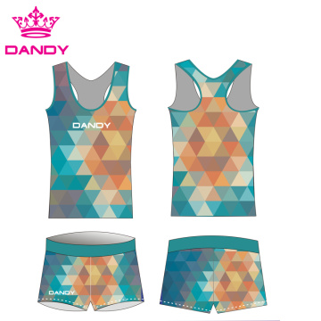 Sublimierte Blumen drucken Frauen Cheer Practice Wear