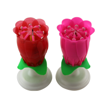 Rose Flower Musical Birthday Candle
