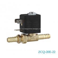 Conector de tubo de latón, válvula de solenoide de 8 mm