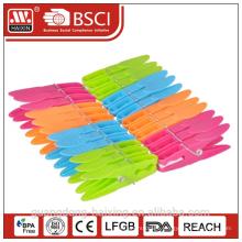 hot sale Plastic Household Colorful Clothes Clip/clothes pegs (24 pcs)