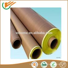 Hecho en la fabricación china de jiangsu Resistencia térmica de la corrosión PTFE revestido cinta adhesiva de la fibra de vidrio