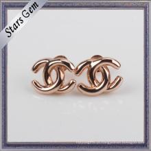 Cruz Unique Design Rose Gold Plated Prata 925 Prata Brinco Stud