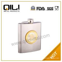 2015 new type silver fashion mini whisky promotional whiskey hip flask