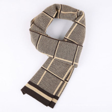 Men′s Fashion Checked Pattern Winter Warm Woven Scarf (YKY4614)