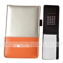 Carnet en cuir avec calculatrice et balle en option (LC806D)
