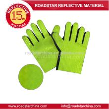 PVC-Film grün reflektierenden Handschuh für Polizei