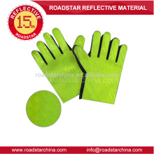 Pvc film green reflective glove for police