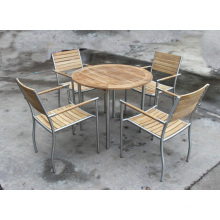 Outdoor Garden Teak Wood Restaurant Chair and Table
