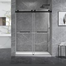 Système de porte de douche coulissante Cambridge à montage mural à double porte