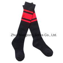 Calcetines deportivos de fútbol infantil medio cojín en el pie