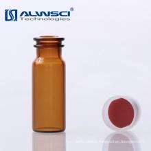 2ML autosampler hplc chromatograph amber glass snap cap vials