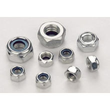 DIN985 Nylon Lock Nuts with Stainless Steel
