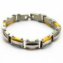 El precio al por mayor en acero inoxidable puede hacer su propia pulsera conocida para la venta, pulseras personalizadas del nombre