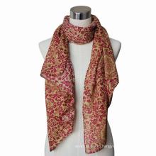 Леди мода Пейсли печати хлопок voile шарф (YKY4064)