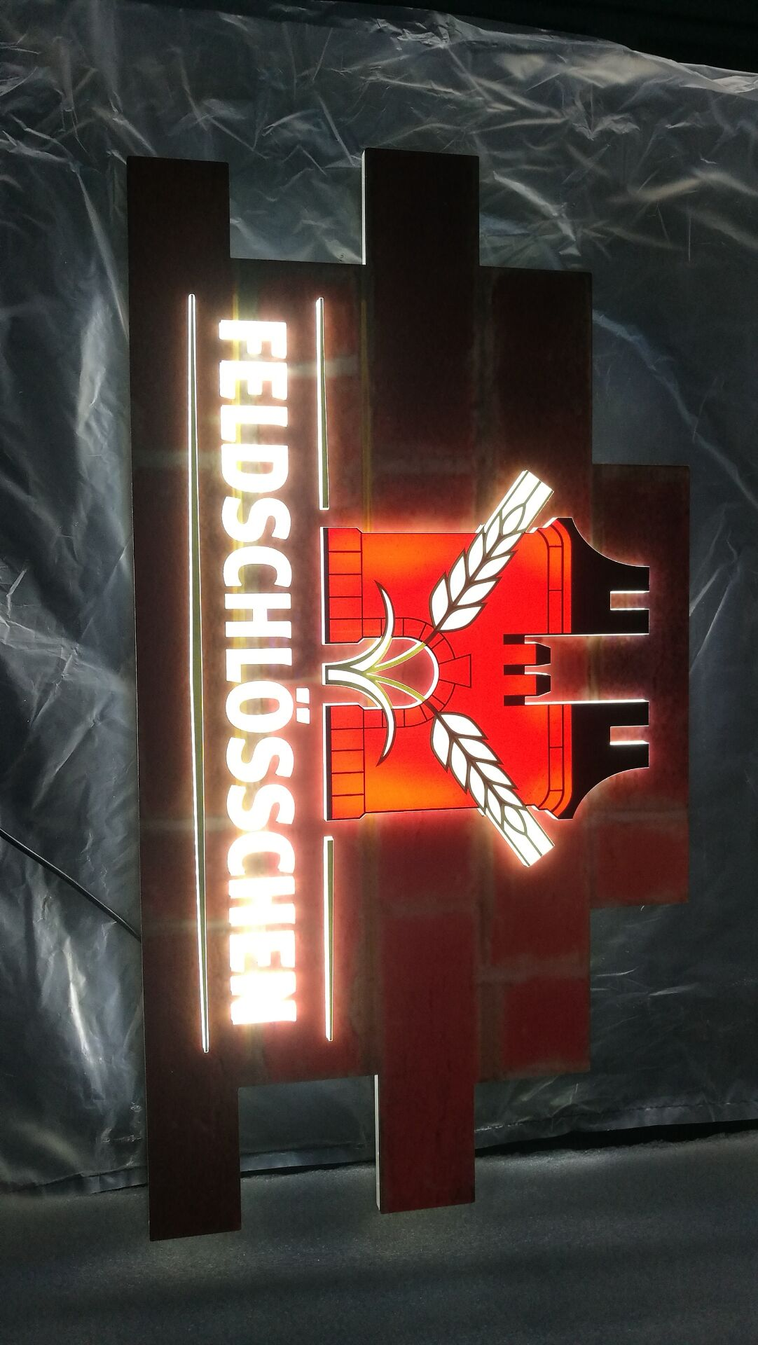 3D raised led sign
