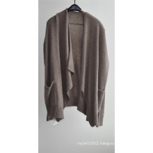 Winter Long Sleeve Open Front Knit Women Cardigan with Pocket