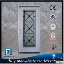 Fácil de combinar puerta de hierro forjado y vidrio
