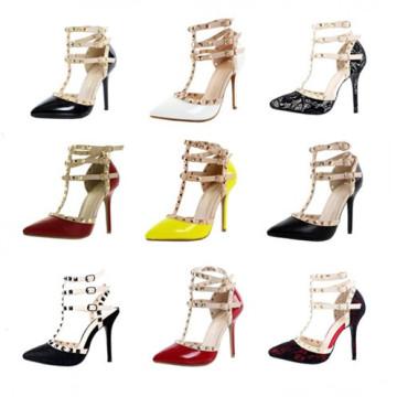 New Design High Heel Lady Sex Dress Shoes (S17)