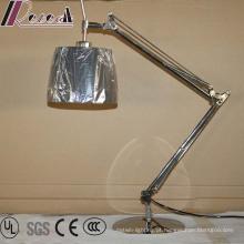 Iluminação Rotatable dobro da leitura do candeeiro de mesa do diodo emissor de luz do hotel da cabeceira do braço de balancim para o quarto