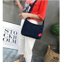 Handbag Casual Canvas Shoulder embroidery Shopping Bag