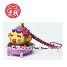 Juguete plástico de la cadena dominante, mono lindo de Yoyocici (ZH-PKT008)