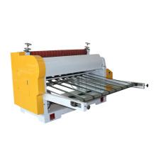 Corrugated carton reel to sheet cutting machine