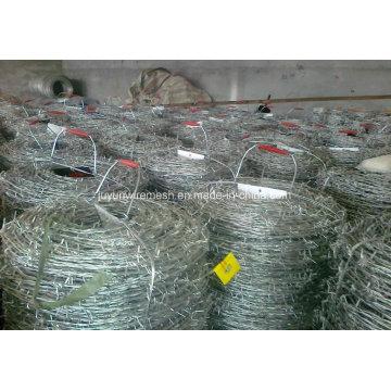 Arame farpado galvanizado para cercas