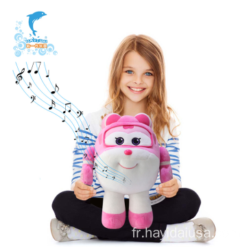 Jouets en peluche Smart Super Wings avec piano
